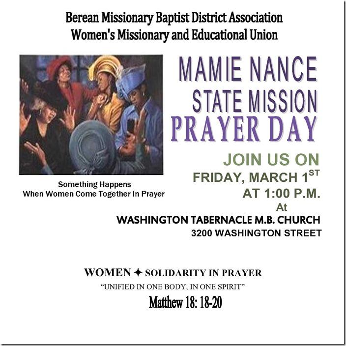 Flyer, state mission prayer  day